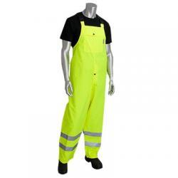 Bib, heavy duty, waterproof, class E, yellow, size XLarge