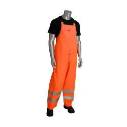 Bib, heavy duty, waterproof, class E, orange, size Medium