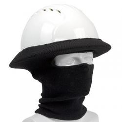Tube liner, hard hat, rib knit, face/neck, black