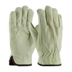 Gloves, top grain pigskin drivers, premium, red thermal lining, keystone thumb, size small