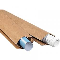 Print mailer, brown kraft, 10x5x48