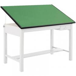 Top, drafting table, green, 60x37 1/2