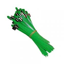Whiskers, stake, green, 25/bundle