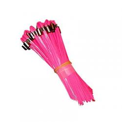 Whiskers, stake, pink glo, 25/bundle