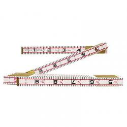 Engineers ruler, red end, 6ft, 10th/100ths