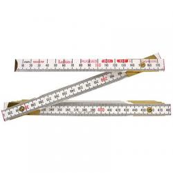 Engineers ruler, red end, metric, 6ft, 10th/100ths