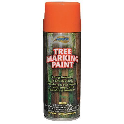 Paint, tree marking, orange
