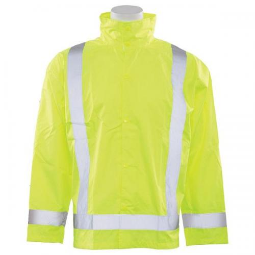 Rain Jacket with Detachable Hood, Class 3, size XL/2X