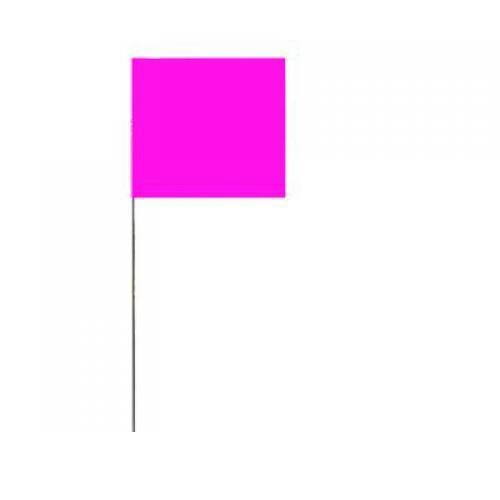 Stake flags, metal staff, color: glo-pink, 2-1⁄2