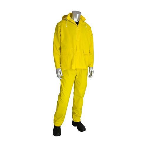 Rainsuit, premium 3-piece, yellow, size Medium