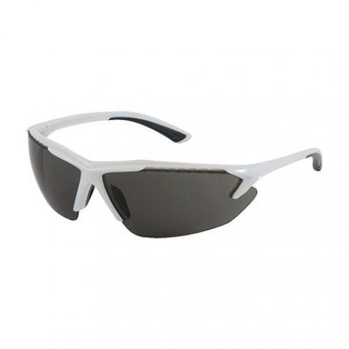 Eyewear, blizzard bouton optical, white frame/gray lens