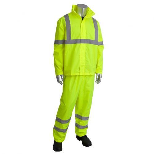 2-Piece Rainsuit Set, Class 3, hi-viz yellow, size 2X/3X