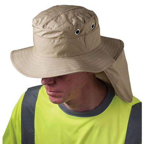 Ranger hat, cooling, neck shade, khaki, large