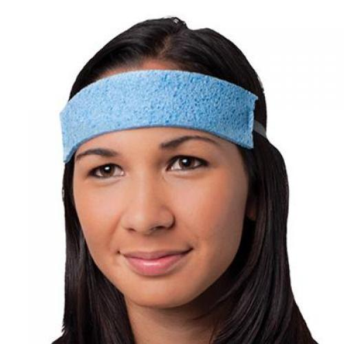 Sweat band, disposable, cellulose, blue