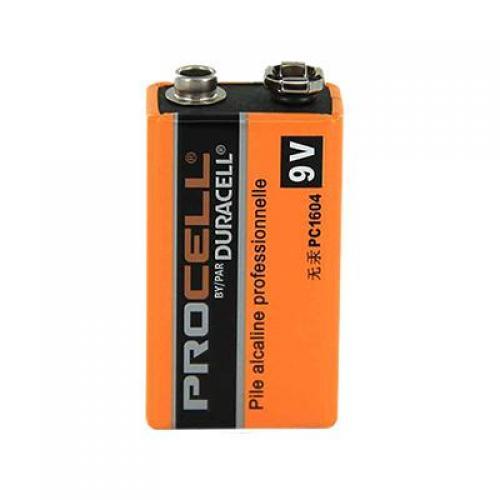 Batteries, duracell procell, alkaline, 9 volt